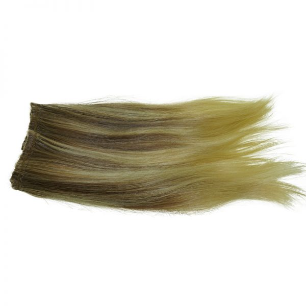 This is an example of custom blonde blend straight hair