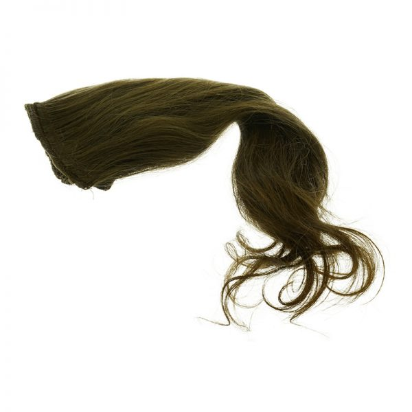 This is an example of brown wavy hair